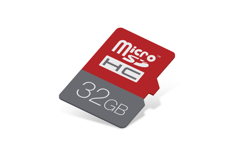 product photo of a 32GB micro SD card
