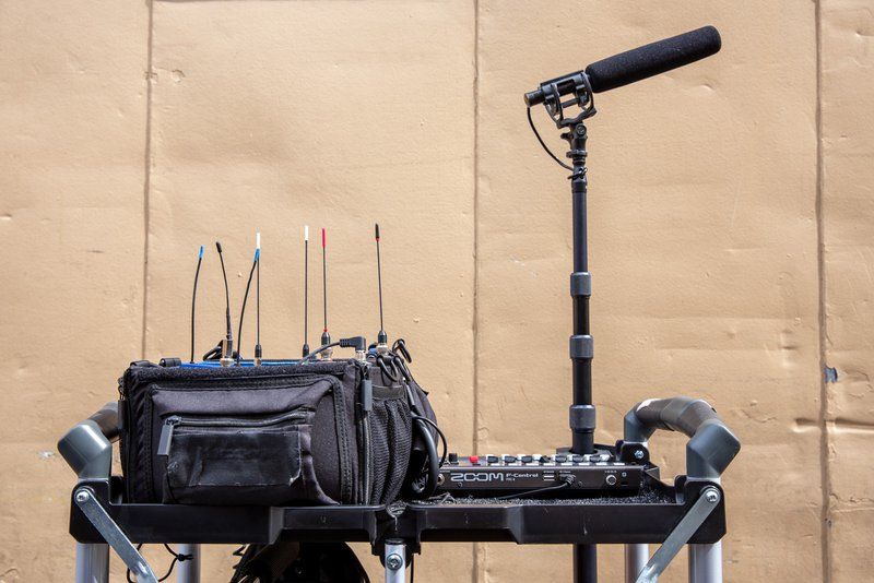 Live Sound cart with gear