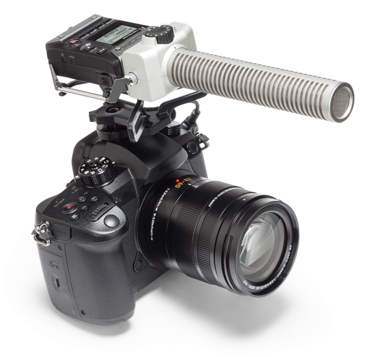 F1-SP mounted to a DSLR without windscreen