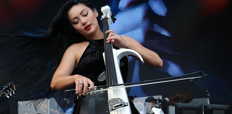 Tina playing Cello
