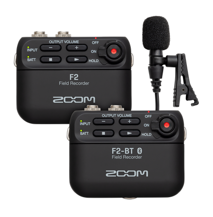 The F2 and F2-BT with lavalier microphone