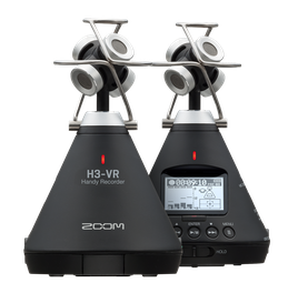 Front and back of the H3-VR 360º Audio Recorder