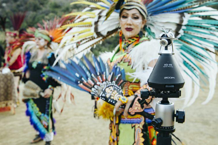 Aztec dancers with H3-VR