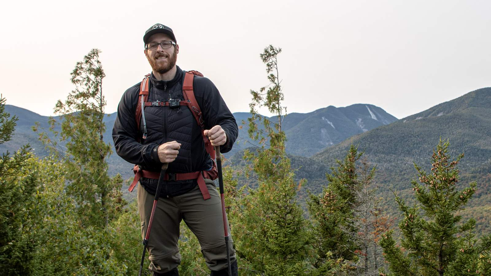 The F2-BT Field Recorder being worn on a hike
