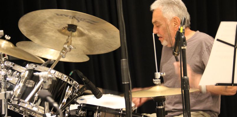 Steve Gadd on drums.