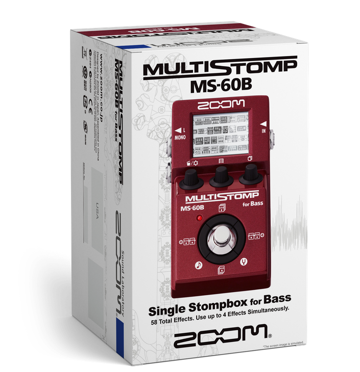 Zoom MS-60B Multi Stomp Bass Guitar Effects Pedal 9