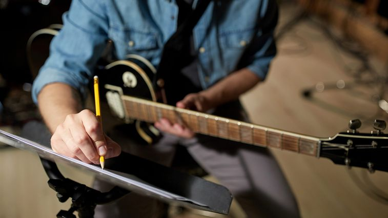 musician writing notes
